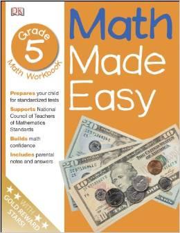 Math Made Easy, Grade 5 Math Workbook