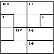 image relating to Kenken Printable Puzzles identified as Favourite math puzzles for youngsters