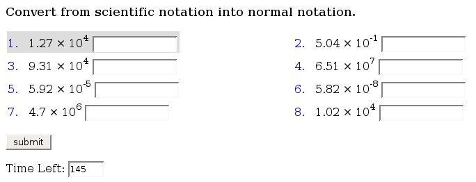 8th Grade Math Scientific Notation Worksheets