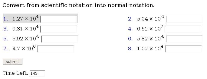 math worksheet : review of mathscore an online math practice environment : Scientific Notation Math Worksheet